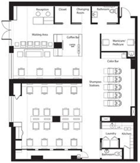 hair salon floor plan maker station reception waiting area spa pinterest