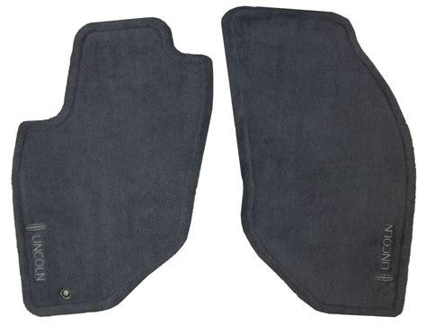 lincoln logo badge oem factory floor mat mats set front