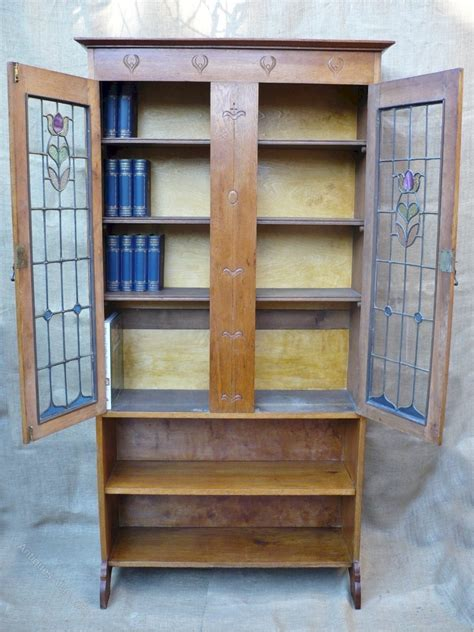 arts and crafts bookcase arts and crafts bookcase with stained glass doors