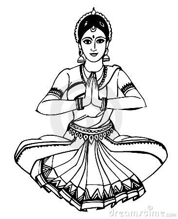 indian dance dance   life   dancing drawings