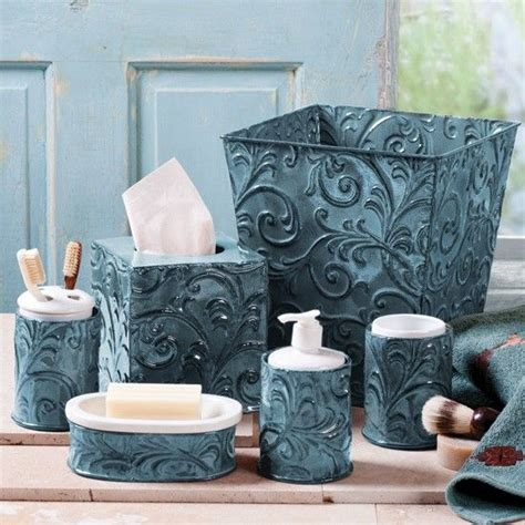 turquoise and brown bathroom accessories turquoise vintage pressed tin bath sets western bathroom