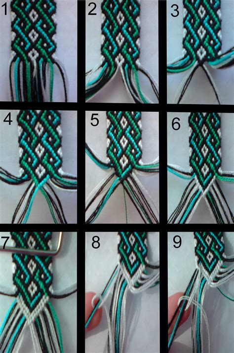 String Designs Step By Step - friendship bracelet tutorial 1 by bebe1221 deviantart