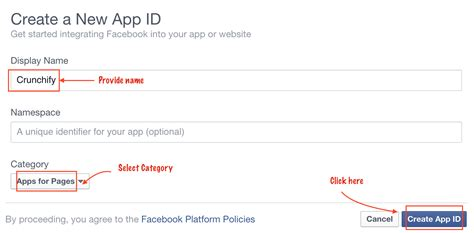 fb app id step by step direction to get facebook appid for facebook