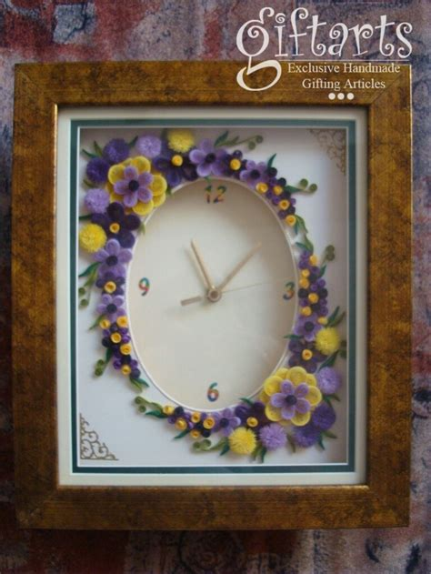 quilling clock tutorial walle flower arrangement tattoo pictures to pin on pinterest