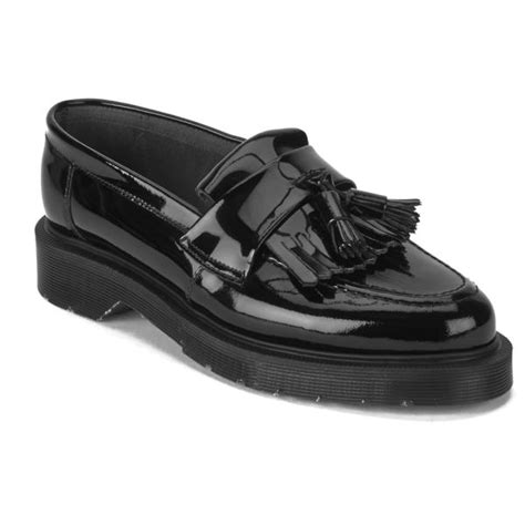 womens black patent leather loafers ymc s solovair patent leather tassel loafers black