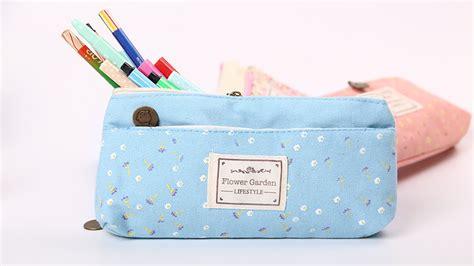 Tempat Pensil Pencil Magnit Felicia tempat pensil shabby zipper pouch blue