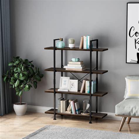 tier open  storage bookshelf industrial  inches