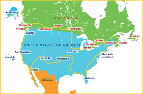 usa and mexico border map for more detail itinerary see route 2014