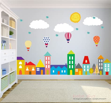 kids room wall city wall decals wall decals nursery baby wall decal kids