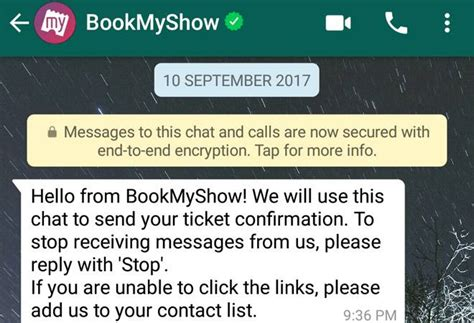 bookmyshow whatsapp bookmyshow one of the first to use whatsapp officially to