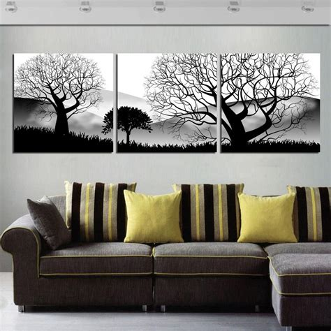 aliexpress com buy unframed 3 sets abstract tree modern canvas wall art home wall decor hd popular trees painting buy cheap trees painting lots from