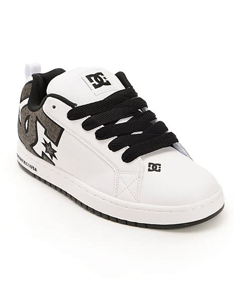 dc court graffik white shadow skate shoes zumiez