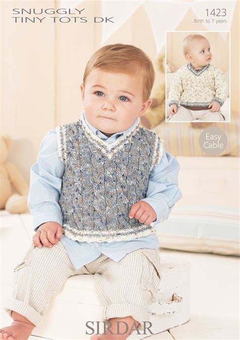 sirdar knitting patterns for children sirdar 1423 knitting pattern baby boys sweater and tank