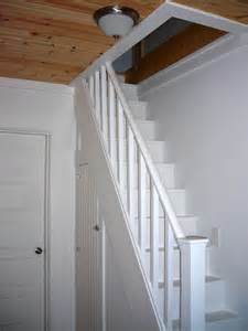 schmale treppen narrow stairs up to loft attic with closet underneath