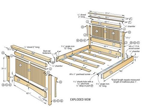 plans for a bed frame best 25 woodworking bed ideas on wood joining