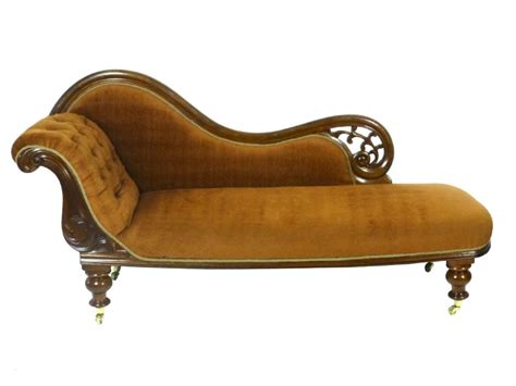 Antique Victorian Mahogany Chaise Longue Sofa Settee