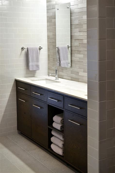 dark brown and white bathroom photo page hgtv