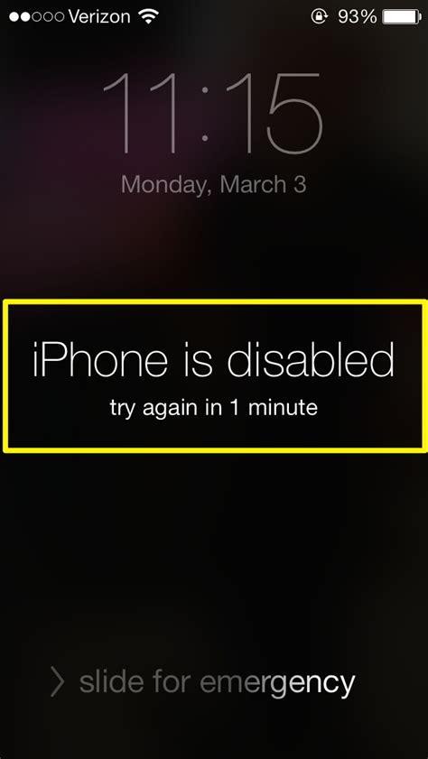 unlock disabled iphone  forgot password