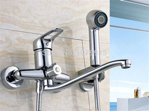 bathtub faucets with handheld shower free shipping new wall mounted bathroom bathtub handheld