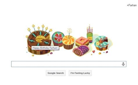 doodle farhan special birthday doodle seo specialist seo sri