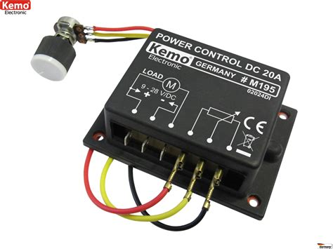 Trafo Led 20a By Veyron kemo m195 20a leistungsregler dimmer 9 28 v dc www