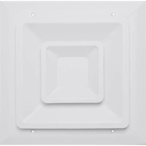 speedi grille 6 in x 6 in ceiling register white with