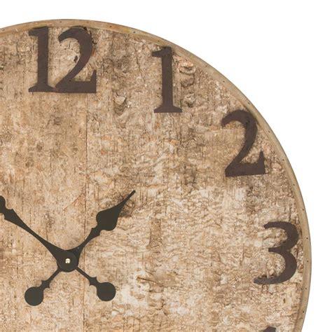 buy seymour birch bark wooden wall clock purely wall clocks