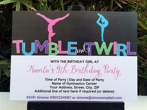 gymnastics birthday party theme printables diy templates