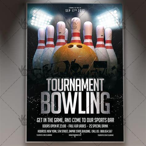 bowling flyers templates free bowling tournament premium flyer psd template psdmarket
