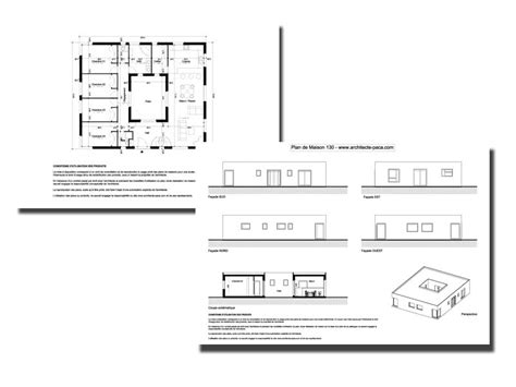 plan maison patio central plan maison avec patio 130 dossier complet plan facades