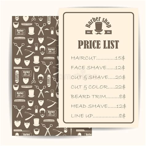 barber shop vector price list template haircut and shave retro barber emejing hairstyles prices ideas styles ideas 2018