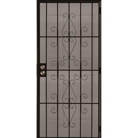 Gatehouse Security Doors by Shop Gatehouse Achilles Black Steel Surface Mount Single