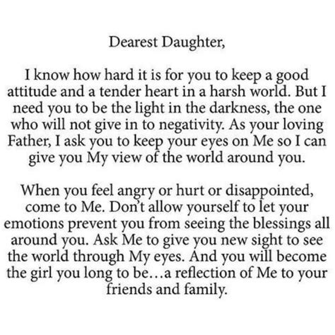 thank you letter to my daughters letter from god god s princess