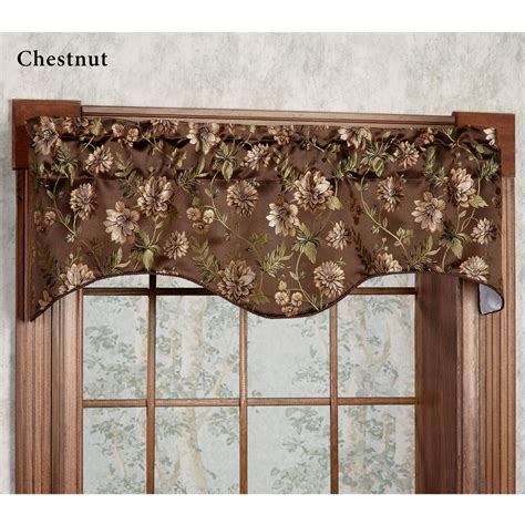 Shaped Valances For Windows Dahlia Floral Shaped Window Valance