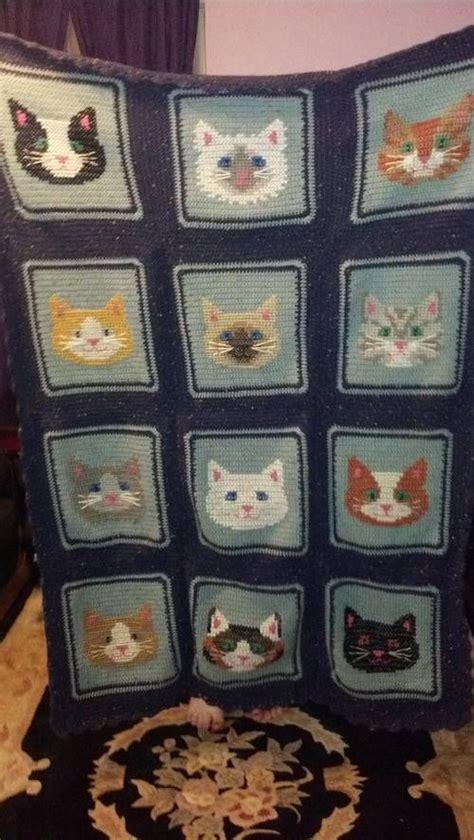 pattern for cat afghan crochet cat pattern blanket ideas afghans afghan