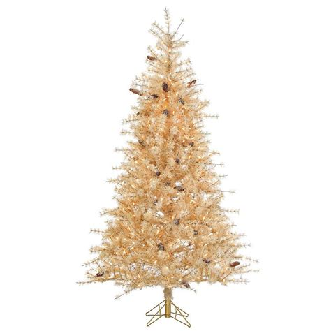 clear tree sterling 7 ft pre lit buttercream frosted needle