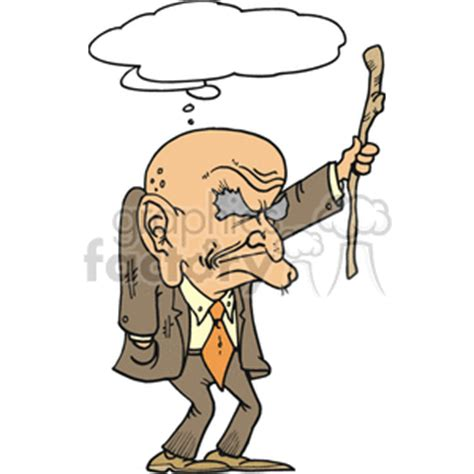 old man dancing to house music royalty free angry senior man holding his cane 155685 vector clip art image wmf
