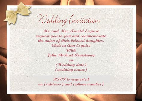 Wedding Banquet Invitation Letter Wedding Reception Invitation Letter Futureclim Info