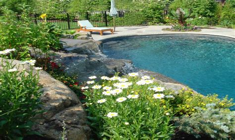 Funky Chaise Lounge Swimming Pool Furniture Landscaping Around Pool Ideas