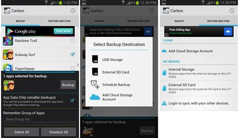 how to backup android backup android apps and app data cache without root using helium aka carbon backup gogadgetx