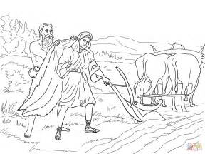 elisha bible story coloring pages sketch template