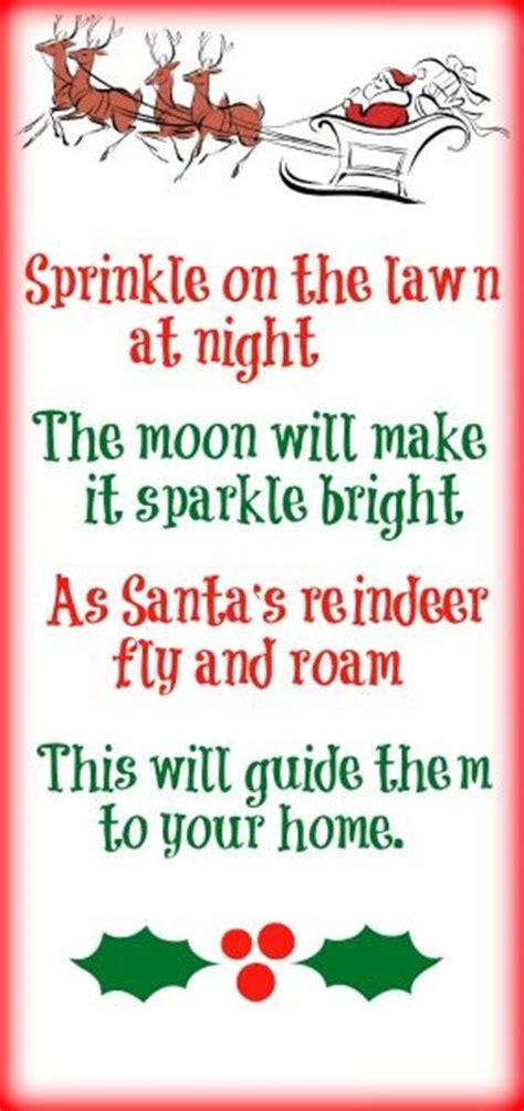 printable magic reindeer food poem 1000 ideas about reindeer food on pinterest magic