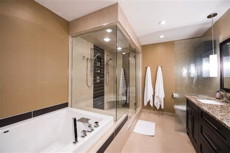 steam shower ensuite remodel contemporary bathroom