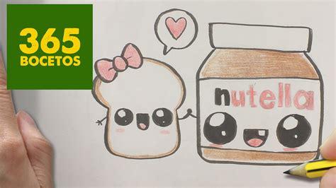 imágenes kawaii fáciles de hacer como dibujar nutella y pan kawaii paso a paso dibujos