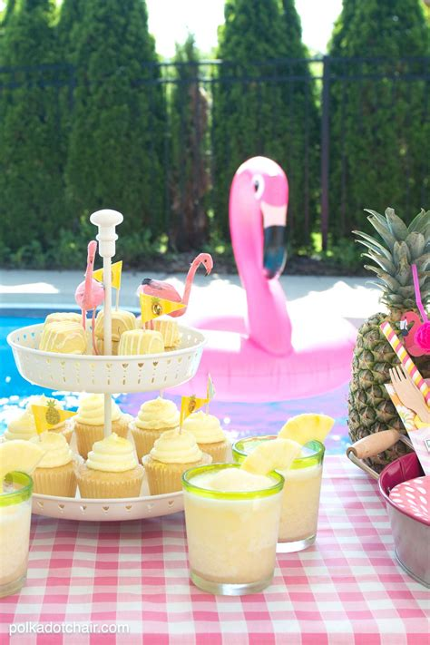 Summer Backyard Flamingo Pool Party Ideas The Polka Dot