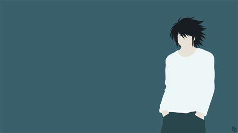 wallpaper anime minimalist minimalist wallpaper l death note by ncoll36 on deviantart