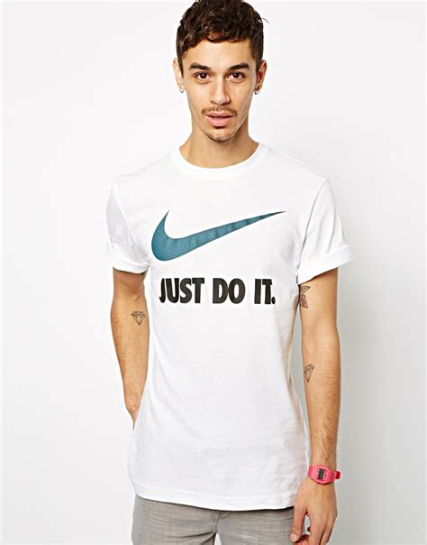 Kaos Tshirt T Shirt T Shirts Nike Just Fly nike just do it t shirt with swoosh in white for lyst
