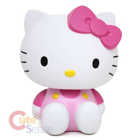 Figure Hellokitty Isi 6 sanrio hello coin bank pink bow pvc figure 6 quot licensed ebay