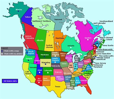 map of canada and the united states provinces and states map easily shows what states