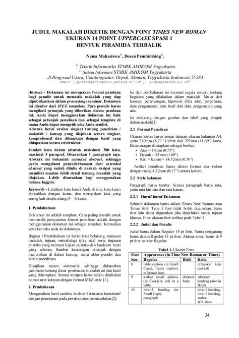 format makalah ieee penelitian dan skripsi semut merah putih